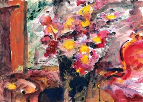 cuadros-decorativos - Cuadro -Flower Vase on a Table- - Corinth, Lovis