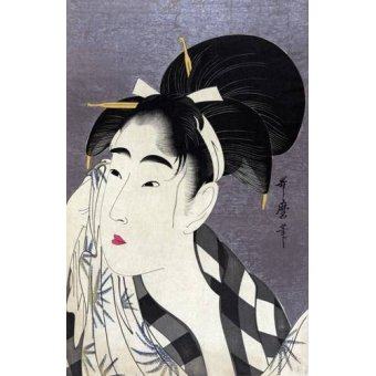 cuadros etnicos y oriente - Cuadro -Ase o fuku onna- - Utamaro, Kitagawa