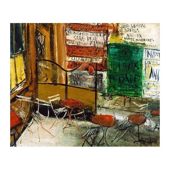 cuadros modernos - Cuadro -Café Terrace with Posters-