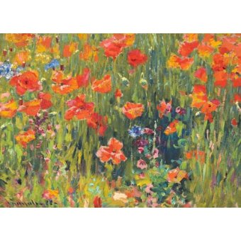cuadros de flores - Cuadro -Amapolas, 1888- - Vonnoh, Robert William