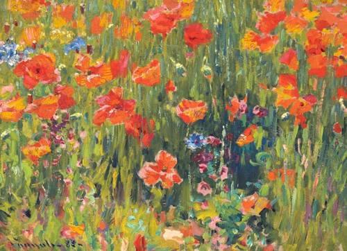 cuadros-de-flores - Cuadro -Amapolas, 1888- - Vonnoh, Robert William