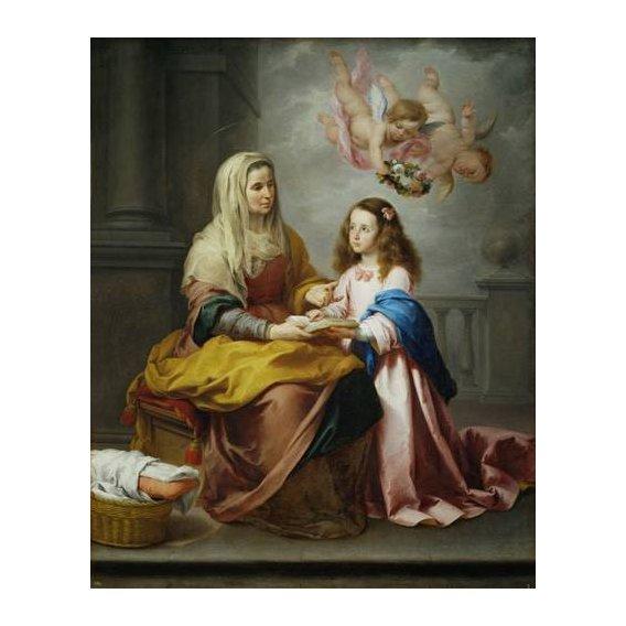 cuadros religiosos - Cuadro -Santa Ana y la Virgen, 1655-