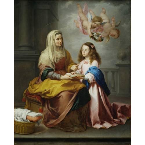 Cuadro -Santa Ana y la Virgen, 1655-