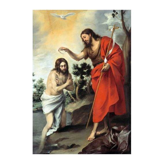 cuadros religiosos - Cuadro -Bautismo de Cristo, 1655-