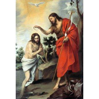- Cuadro -Bautismo de Cristo, 1655- - Murillo, Bartolome Esteban