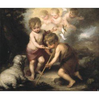 - Cuadro -Los niños de la concha- - Murillo, Bartolome Esteban