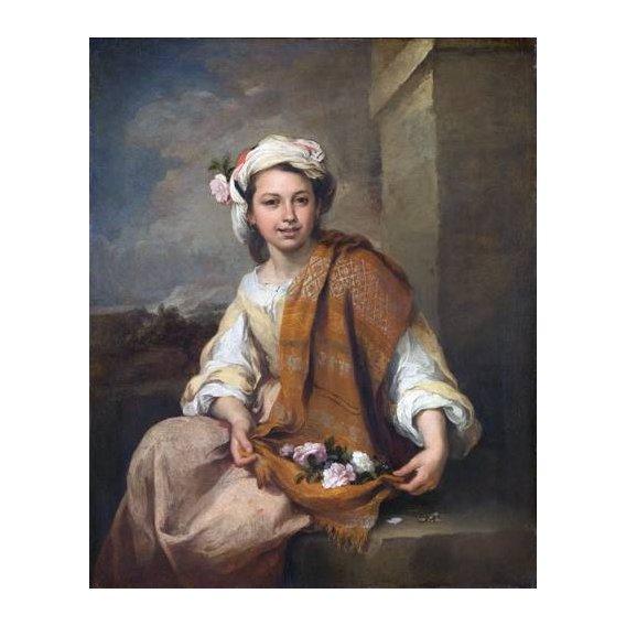 cuadros de retrato - Cuadro -La Niña de las Flores, 1670-