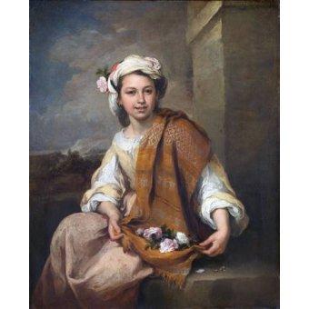 - Cuadro -La Niña de las Flores, 1670- - Murillo, Bartolome Esteban