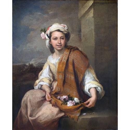 Cuadro -La Niña de las Flores, 1670-