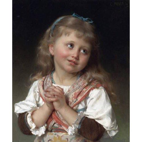cuadros de retrato - Cuadro -Niña pequeña-