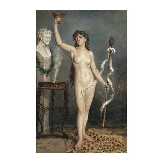 cuadros de desnudos - Cuadro -Modelo desnudo femenino-