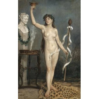 cuadros de desnudos - Cuadro -Modelo desnudo femenino- - Sorolla, Joaquin