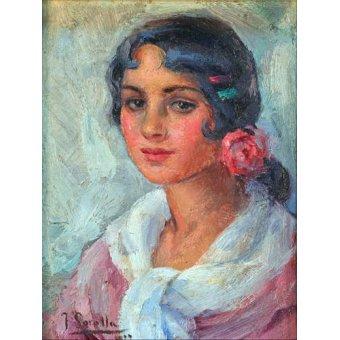 - Cuadro -Retrato de una mujer- - Sorolla, Joaquin