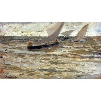 cuadros de marinas - Cuadro -Salida de las barcas, Asturias- - Sorolla, Joaquin