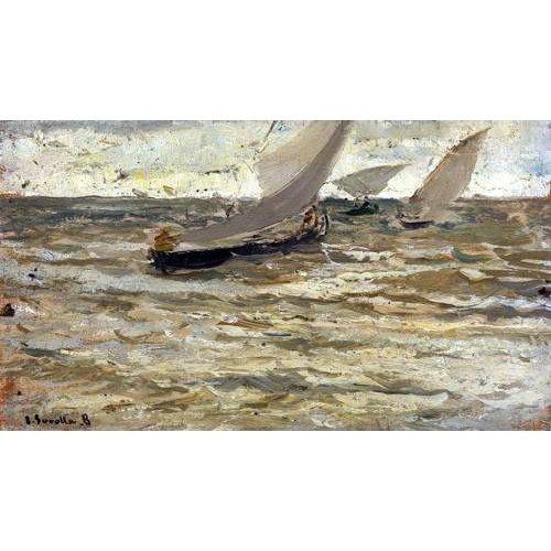 Cuadro -Salida de las barcas, Asturias-
