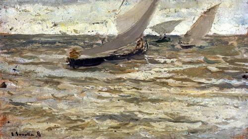 cuadros-de-marinas - Cuadro -Salida de las barcas, Asturias- - Sorolla, Joaquin