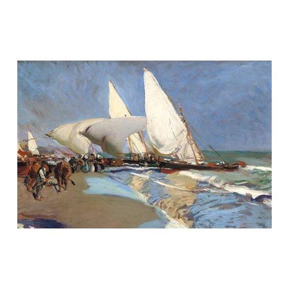 cuadros de marinas - Cuadro -La playa de Valencia-