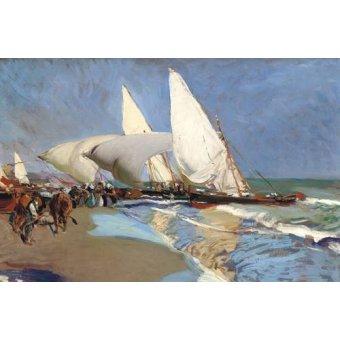 cuadros de marinas - Cuadro -La playa de Valencia- - Sorolla, Joaquin