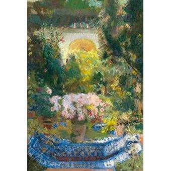 Cuadro -Patio de la casa Sorolla, 1917-