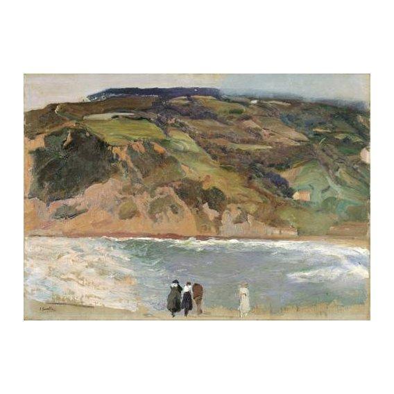 cuadros de paisajes - Cuadro -Rompeolas de San Sebastián, 1917-