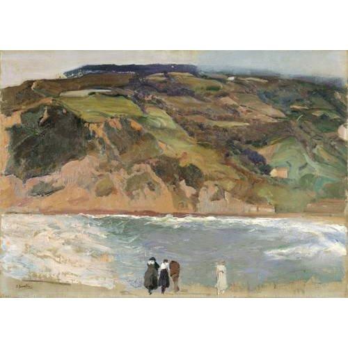 Cuadro -Rompeolas de San Sebastián, 1917-