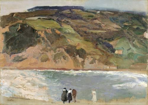 cuadros-de-paisajes - Cuadro -Rompeolas de San Sebastián, 1917- - Sorolla, Joaquin
