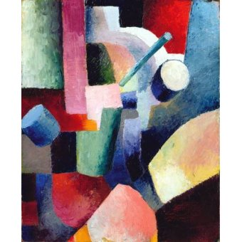 cuadros abstractos - Cuadro -Abstracto _ Colored Composition of Forms, 1914- - Macke, August
