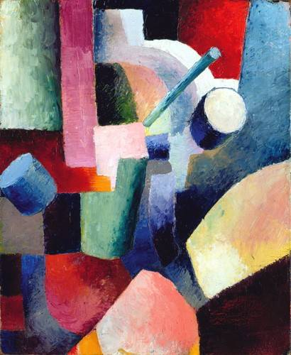 cuadros-abstractos - Cuadro -Abstracto _ Colored Composition of Forms, 1914- - Macke, August