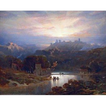 - Cuadro -El Castillo de Alcala de Guadaira, Sevilla- - Roberts, David