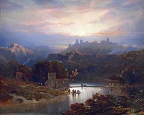 cuadros-de-paisajes - Cuadro -El Castillo de Alcala de Guadaira, Sevilla- - Roberts, David