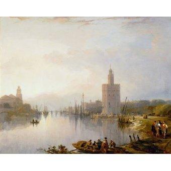 - Cuadro -La Torre del Oro, Sevilla- - Roberts, David