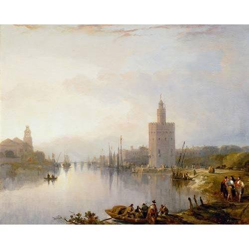 Cuadro -La Torre del Oro, Sevilla-