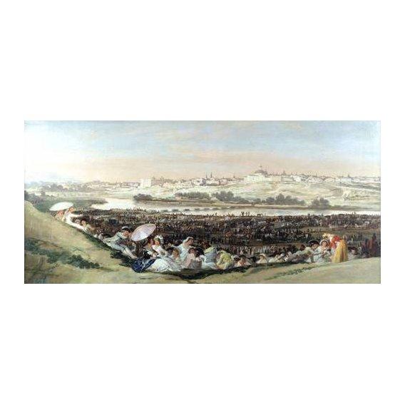 cuadros de paisajes - Cuadro -La Pradera de San Isidro, 1814-