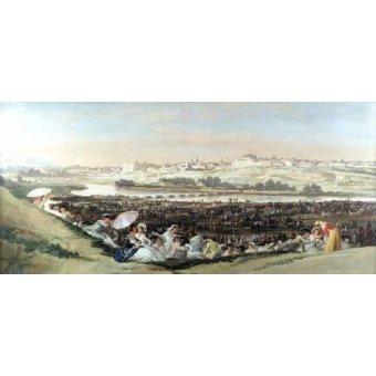 - Cuadro -La Pradera de San Isidro, 1814- - Goya y Lucientes, Francisco de