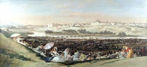 cuadros-de-paisajes - Cuadro -La Pradera de San Isidro, 1814- - Goya y Lucientes, Francisco de