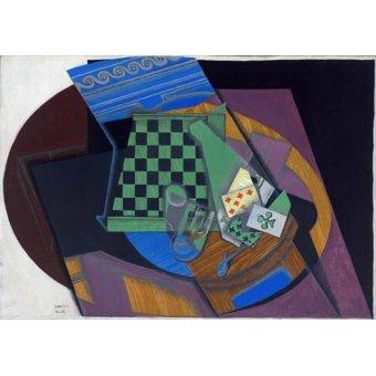 - Cuadro -Damier et cartes à jouer, 1919- - Gris, Juan