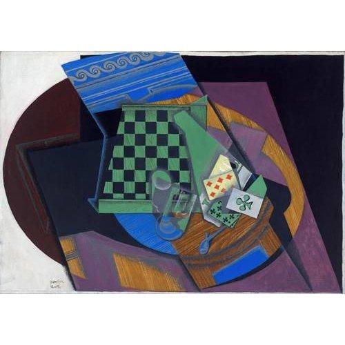 cuadros abstractos - Cuadro -Damier et cartes à jouer, 1919-