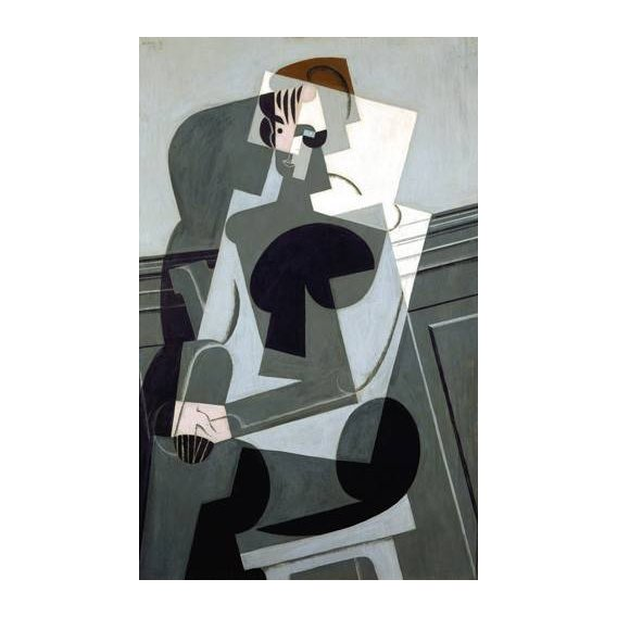 cuadros abstractos - Cuadro -Portrait de Madame Josette Gris, 1916-