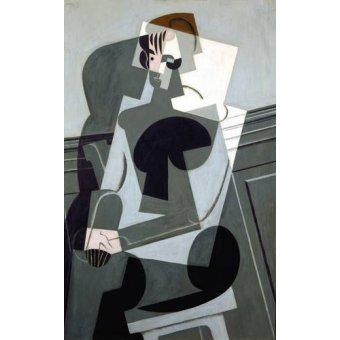 cuadros abstractos - Cuadro -Portrait de Madame Josette Gris, 1916- - Gris, Juan