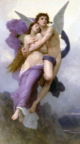 cuadros-de-retrato - Cuadro -El rapto de Psique- - Bouguereau, William