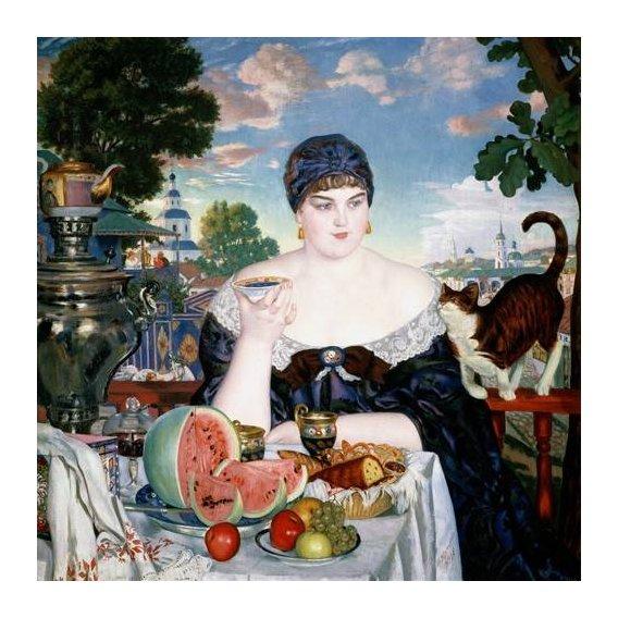 cuadros de bodegones - Cuadro -Merchant's Wife at Tea-
