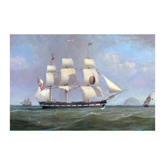 cuadros de marinas - Cuadro -The Black Ball Line Packet Ship 'New York' off Ailsa Craig, 183