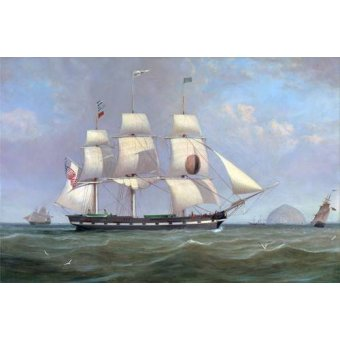 - Cuadro -The Black Ball Line Packet Ship 'New York' off Ailsa Craig, 183 - Clark, William