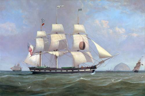 cuadros-de-marinas - Cuadro -The Black Ball Line Packet Ship 'New York' off Ailsa Craig, 183 - Clark, William