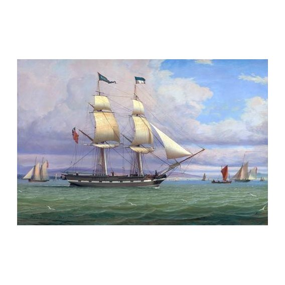 cuadros de marinas - Cuadro -The English Brig 'Norval' before the Wind, 1833-