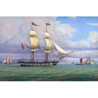 - Cuadro -The English Brig 'Norval' before the Wind, 1833- - Clark, William