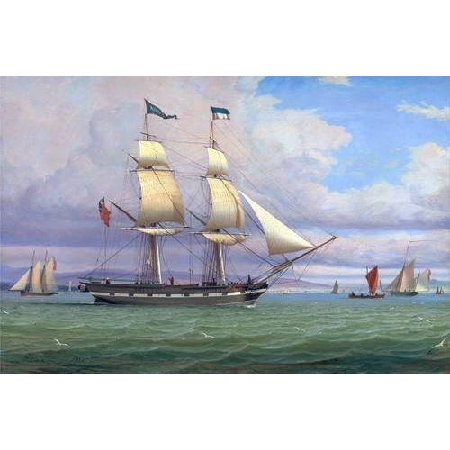 Cuadro -The English Brig 'Norval' before the Wind, 1833-