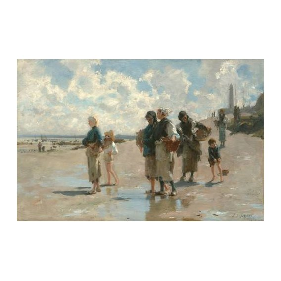 cuadros de marinas - Cuadro -Fishing for Oysters at Cancale, 1878-