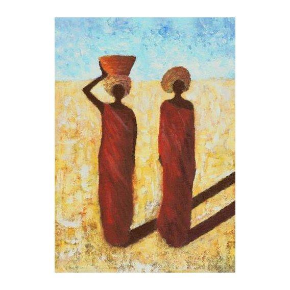 cuadros etnicos y oriente - Cuadro -African Girls, 2001-