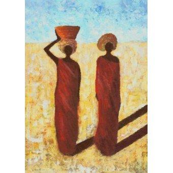 cuadros etnicos y oriente - Cuadro -African Girls, 2001- - Wilson, Tom